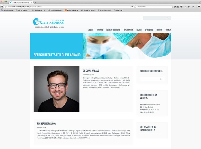 Dr Arnaud Clavé - Clinique St George à Nice